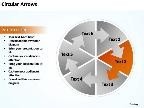 PowerPoint Templates Business Circular Arrows Pointer Ppt Slides