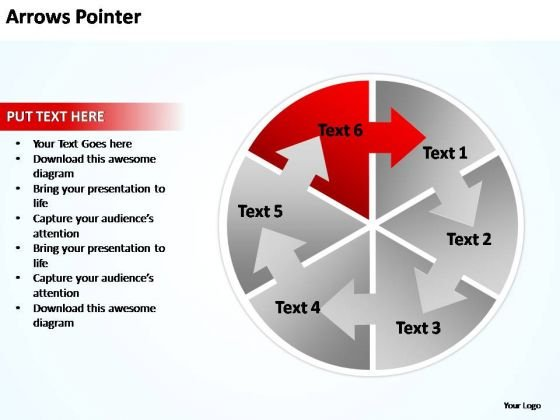 PowerPoint Templates Business Circular Arrows Pointer Ppt Template