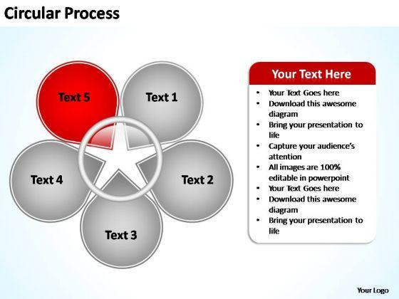 PowerPoint Templates Business Circular Process Flow Ppt Slide