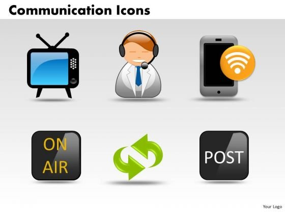 PowerPoint Templates Business Communication Icons Ppt Slides