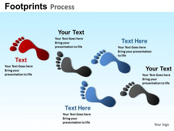 PowerPoint Templates Business Competition Footprints Process Ppt Designs