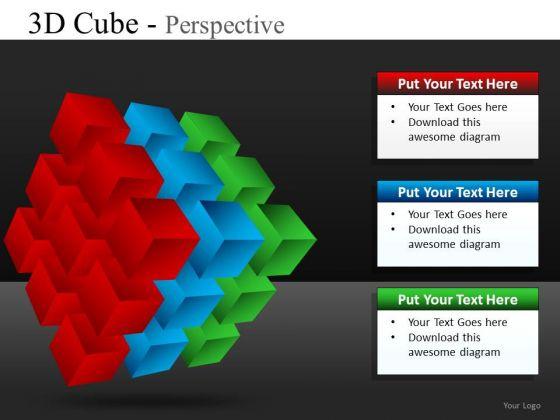 PowerPoint Templates Business Cube Diagram Slides