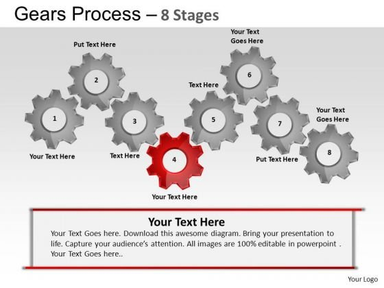PowerPoint Templates Business Gears Process Ppt Slide