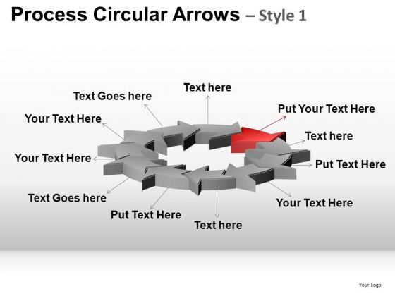 PowerPoint Templates Business Growth Process Circular Arrows Ppt Themes