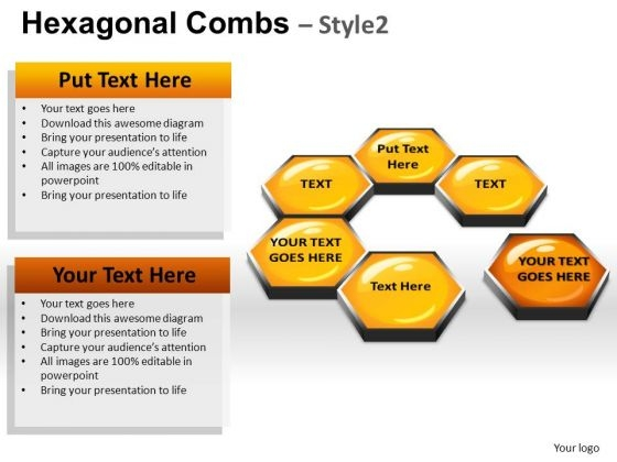 PowerPoint Templates Business Hexagonal Combs Ppt Presentation
