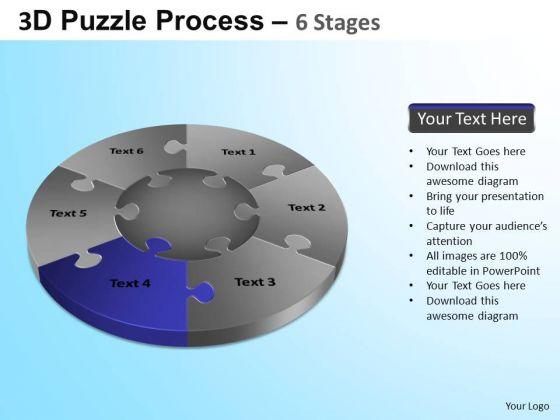 PowerPoint Templates Business Jigsaw Pie Chart Ppt Presentation