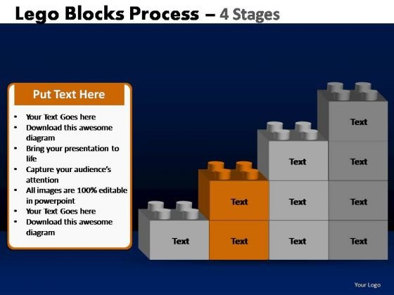 PowerPoint Templates Business Lego Blocks Ppt Themes