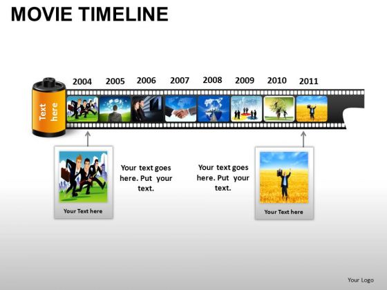PowerPoint Templates Business Movie Timeline Ppt Slide Designs