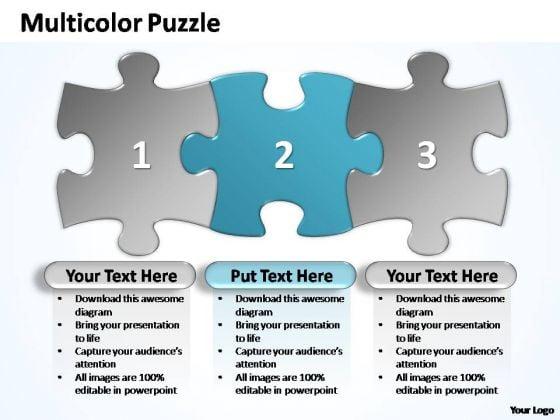 PowerPoint Templates Business Multicolor Puzzle Diagram Ppt Slides