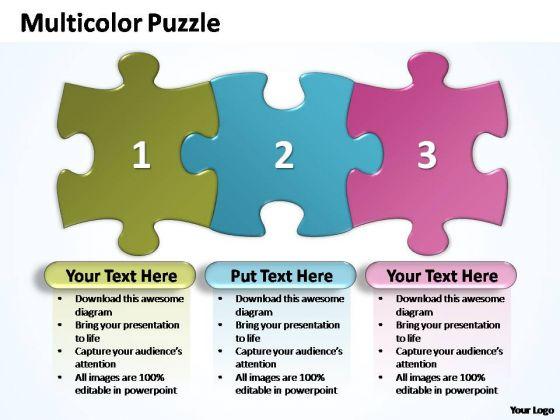 PowerPoint Templates Business Multicolor Puzzle Diagram Ppt Themes