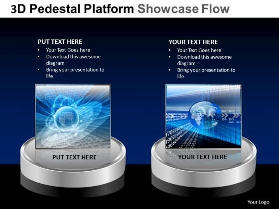 PowerPoint Templates Business Pedestal Platform Showcase Ppt Themes