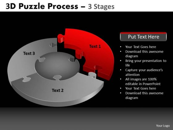 PowerPoint Templates Business Pie Chart Puzzle Process Ppt Themes
