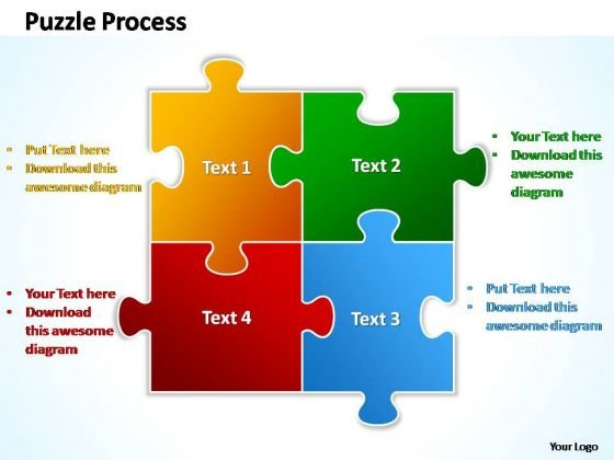 PowerPoint Templates Business Puzzle Process 2 X 2 Ppt Themes