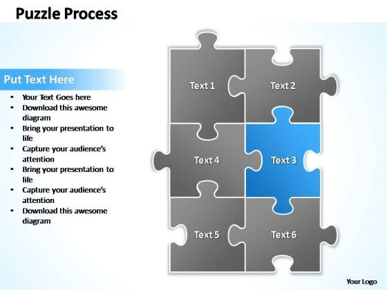 PowerPoint Templates Business Puzzle Process 2 X 3 Ppt Design