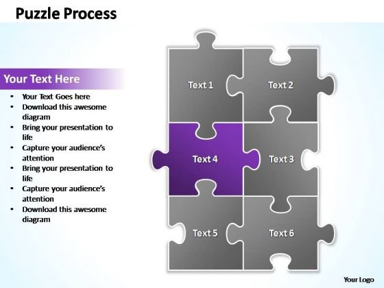 PowerPoint Templates Business Puzzle Process 2 X 3 Ppt Slides