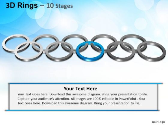 PowerPoint Templates Business Rings Ppt Process