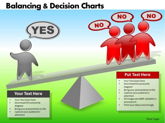 PowerPoint Templates Business Strategy Balancing Decision Charts Ppt Themes