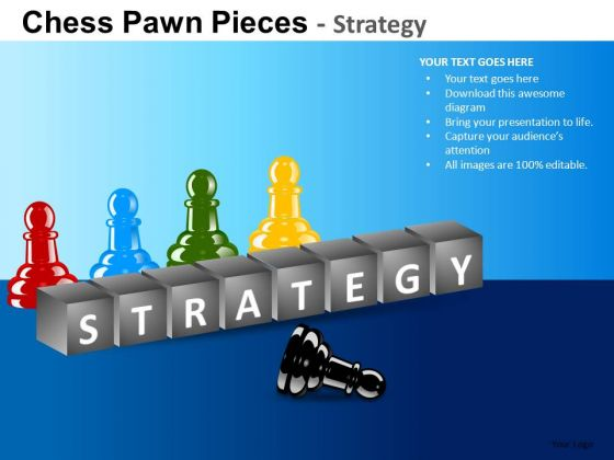 PowerPoint Templates Business Strategy Chess Pawn Ppt Design
