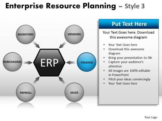 PowerPoint Templates Business Strategy Enterprise Resource Planning Ppt Themes