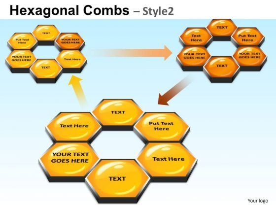 PowerPoint Templates Business Strategy Hexagonal Combs Ppt Themes