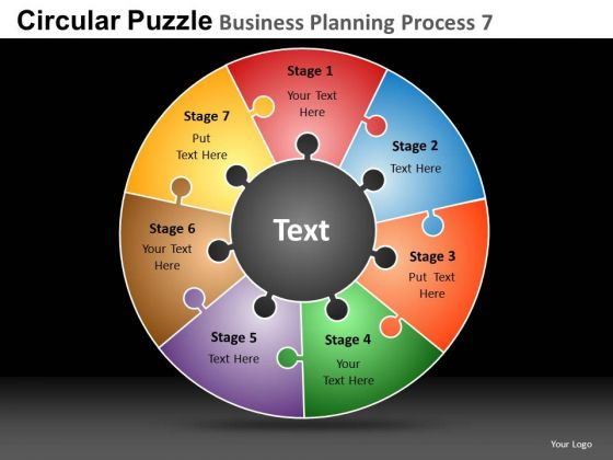 PowerPoint Templates Business Success Circular Puzzle Ppt Themes