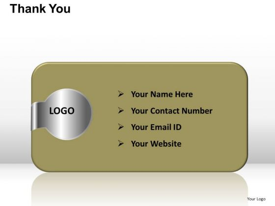 PowerPoint Templates Business Thank You Address Details Ppt Designs