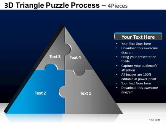 PowerPoint Templates Business Triangle Puzzle Ppt Presentation
