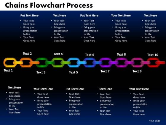 PowerPoint Templates Chains Flowchart Process Success Ppt Presentation