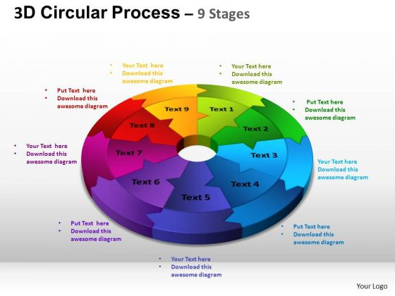 PowerPoint Templates Chart Circular Process Cycle Ppt Theme