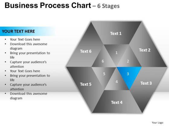 PowerPoint Templates Chart Hexagon Pie Chart Ppt Design Slides