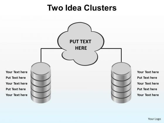 PowerPoint Templates Chart Two Idea Clusters Ppt Slides
