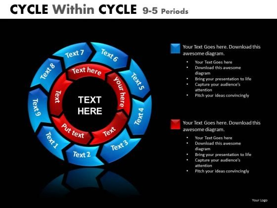 PowerPoint Templates Circle Process Chart 9 Stage
