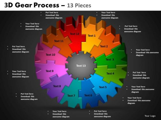 PowerPoint Templates Circle Process Gear Process Ppt Themes