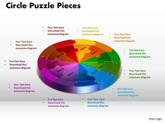 PowerPoint Templates Circle Puzzle Editable Ppt Presentation