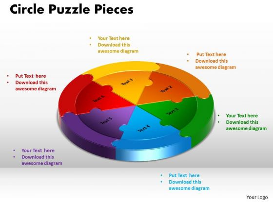 PowerPoint Templates Circle Puzzle Pieces Leadership Ppt Design