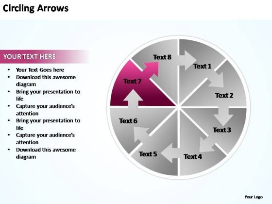 PowerPoint Templates Circling Arrows Flow Chart Ppt Backgrounds