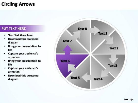 PowerPoint Templates Circling Arrows Flow Chart Ppt Design Slides