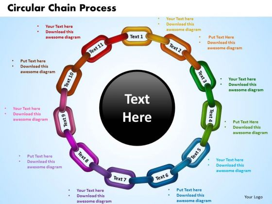 PowerPoint Templates Circular Chain Process Business Ppt Slides