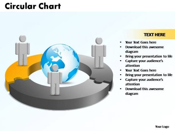 PowerPoint Templates Circular Chart With Globe Ppt Design