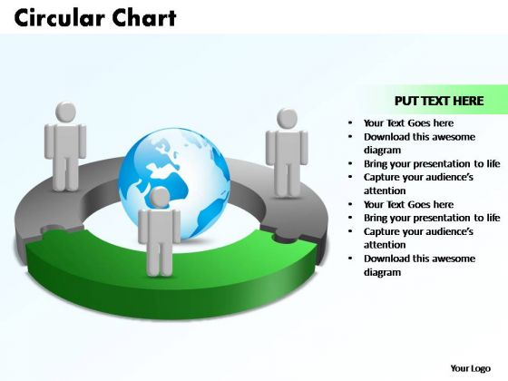 PowerPoint Templates Circular Chart With Globe Ppt Designs