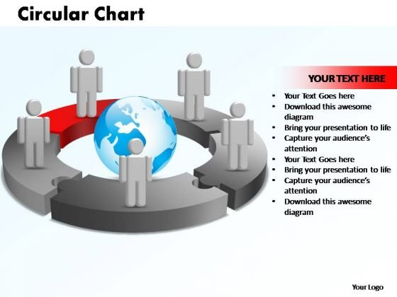 PowerPoint Templates Circular Chart With Globe Ppt Layout