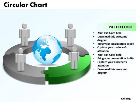 PowerPoint Templates Circular Chart With Globe Ppt Layouts