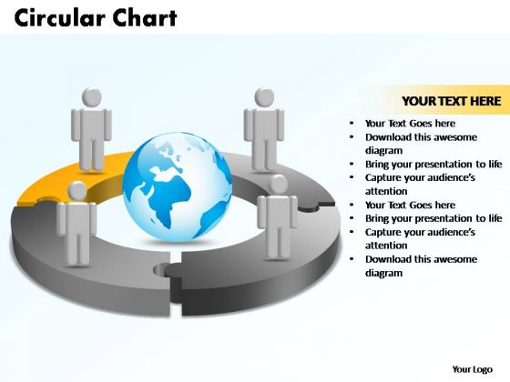 PowerPoint Templates Circular Chart With Globe Ppt Presentation