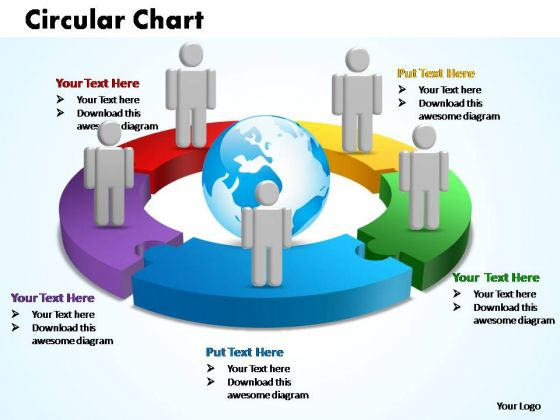 PowerPoint Templates Circular Chart With Globe Ppt Presentation Designs