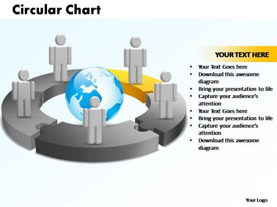 PowerPoint Templates Circular Chart With Globe Ppt Process