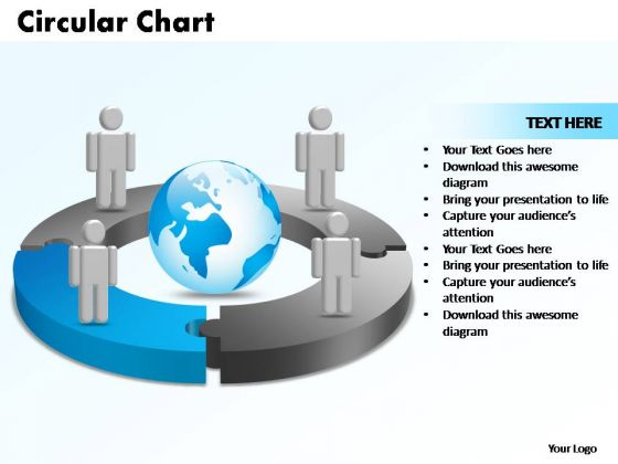PowerPoint Templates Circular Chart With Globe Ppt Slide Designs