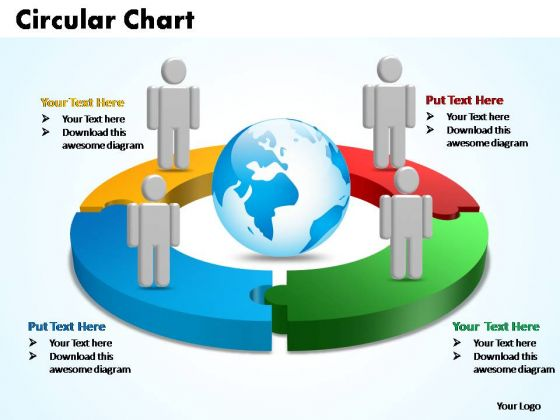 PowerPoint Templates Circular Chart With Globe Ppt Slides