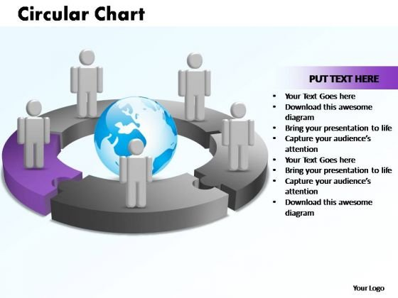 PowerPoint Templates Circular Chart With Globe Ppt Template