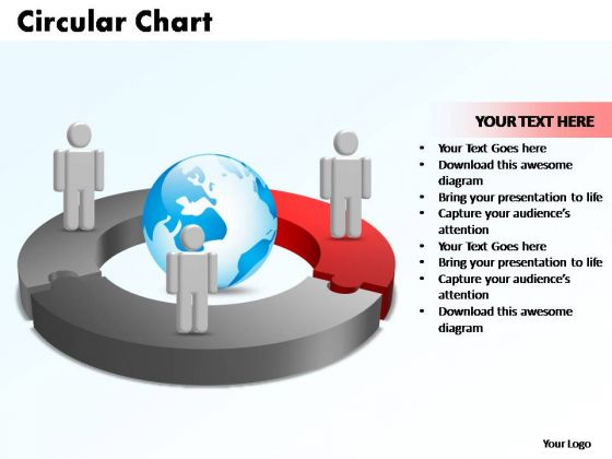 PowerPoint Templates Circular Chart With Globe Ppt Theme