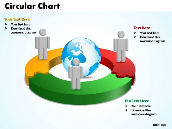 PowerPoint Templates Circular Chart With Globe Ppt Themes